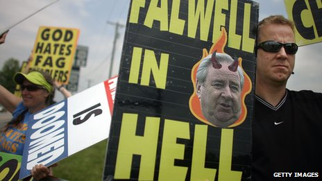 Falwell in Hell sign