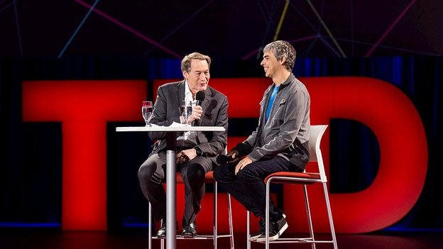 Larry Page and Charlie Rose