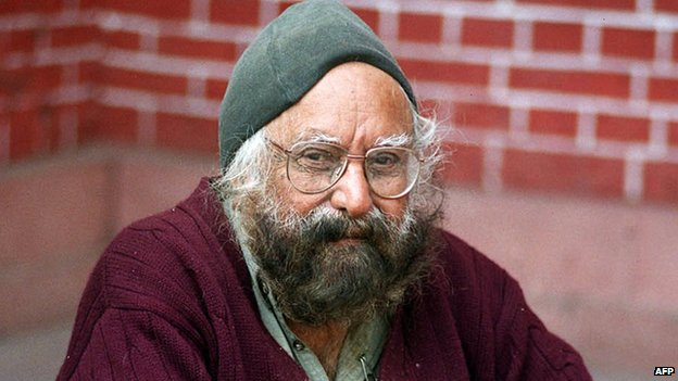 Photo of Khushwant Singh taken in Jan 2004
