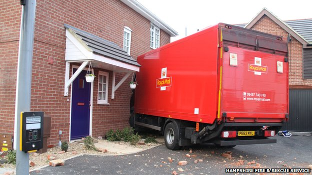 Royal Mail lorry, Gosport