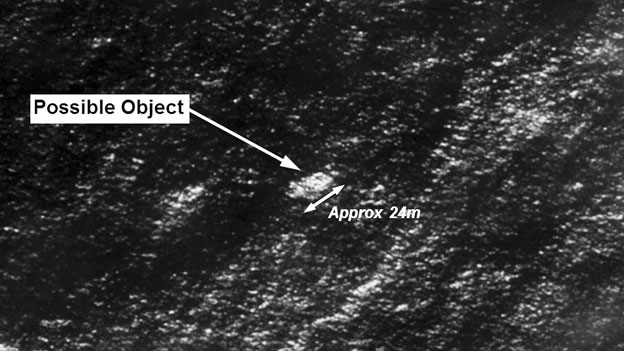 Fuzzy picture of what Australia hopes is wreckage of MH370