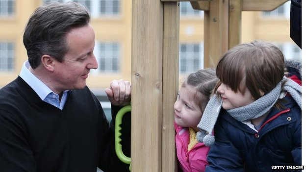 David Cameron and children