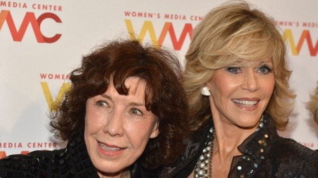 Actress Lily Tomlin and Jane Fonda