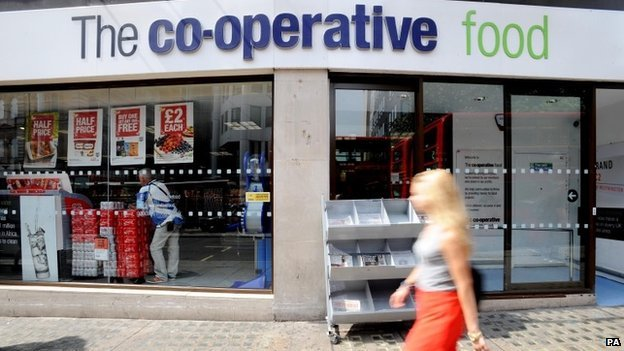 File photo dated 16/07/13 of a Co-operative food store