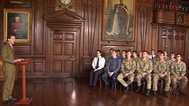 Servicemen and women receive military honours