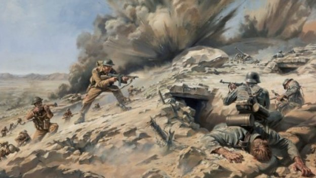 Battle of Longstop Hill painting