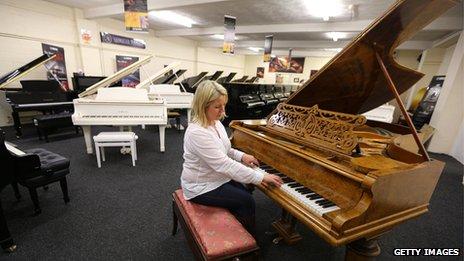 Beatles piano