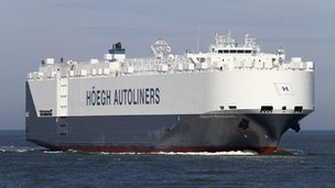 Norwegian cargo vessel Hoegh St Petersburg