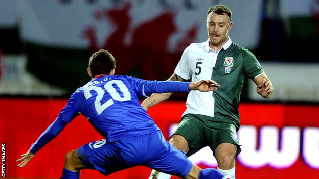Darcy Blake in action for Wales
