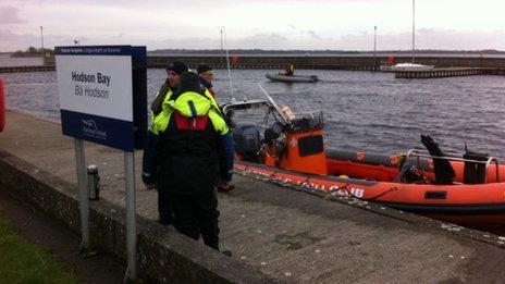 The men left Hudson Bay harbour on Thursday afternoon