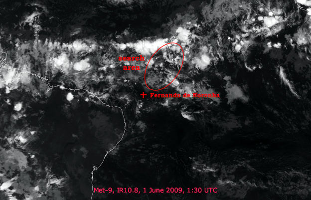 A Meteosat-9 infrared satellite image  shows weather conditions over Atlantic