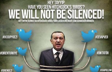Prime Minister Erdogan tied up by Twitter birds