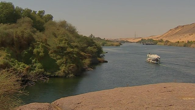 River Nile in Aswan, Egypt