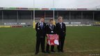 Stoke Damerel Community College School Reporters on the pitch at Exeter Chiefs' Sandy Park stadium