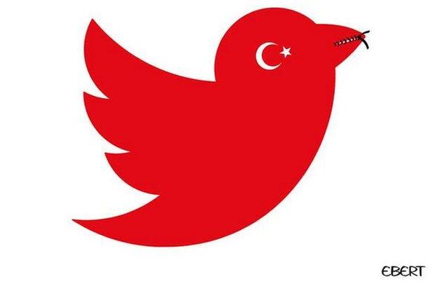 Twitter's logo turned red, with the bird's beak zipped shut