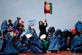 Supporters of Afghan presidential candidate Ashraf Ghani Ahmadzai attend an election campaign in Kunduz province, northern Afghanistan