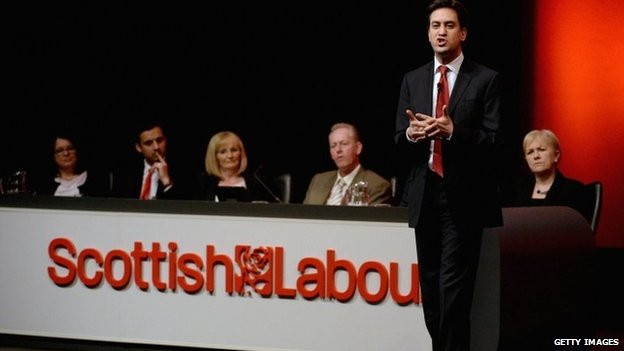Ed Miliband delivers his speech to