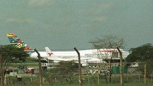 British Airways plane after hijack incident