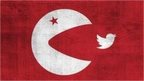 Image of Turkish flag with Twitter icon