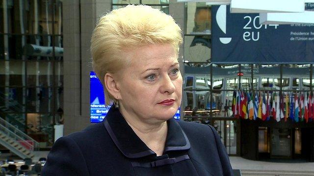 Dalia Grybauskaite, President of Lithuania