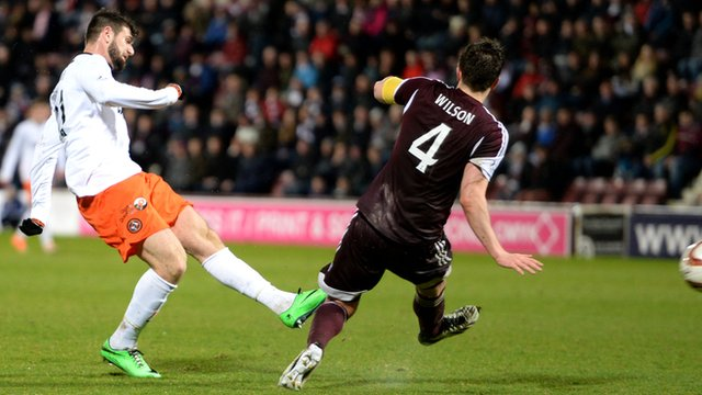 Nadir Ciftci scores for Dundee United against Hearts