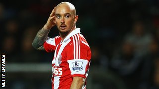 Stoke City midfielder Stephen Ireland