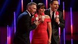 Sport Relief presenters (l-r) Gary Lineker, Davina McCall and David Walliams