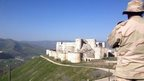 Crusader castle has Syria war scars