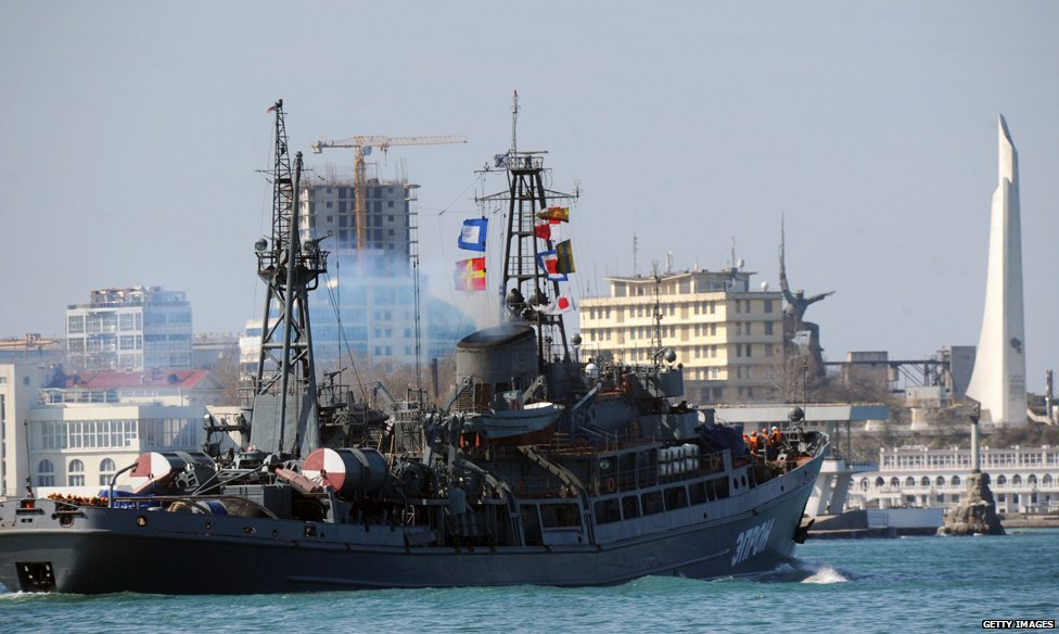 Russian naval vessel in Crimea
