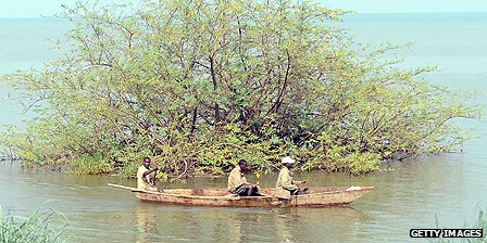 Boatmen on Lake Tanganyika, Burundi