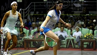 Nicol David and Nour El Sherbini