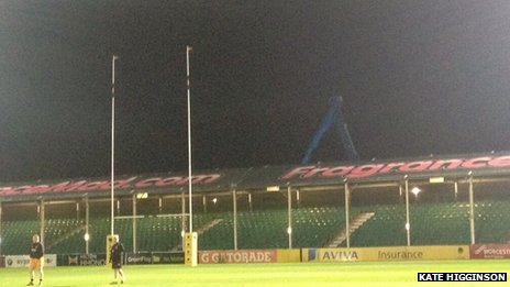 Worcester Warriors north stand
