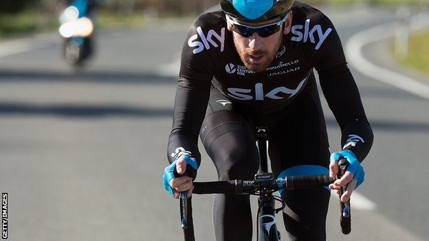 Sir Bradley Wiggins training in Mallorca