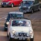 Classic cars arriver for Brooklands Mini Day 2014