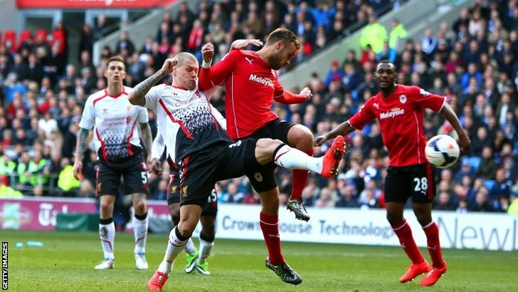Martin Skrtel scores for Liverpool