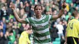 Celtic midfielder Stefan Johansen celebrates after scoring against St Mirren