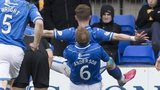 St Johnstone celebrate Steven MacLean's early goal