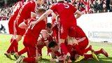 Aberdeen celebrate Ryan Jack's winner versus Kilmarnock