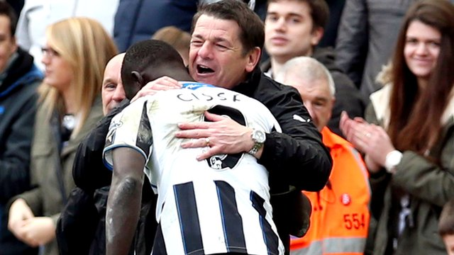 Newcastle 1-0 Crystal Palace: John Carver 'delighted' with last-minute win