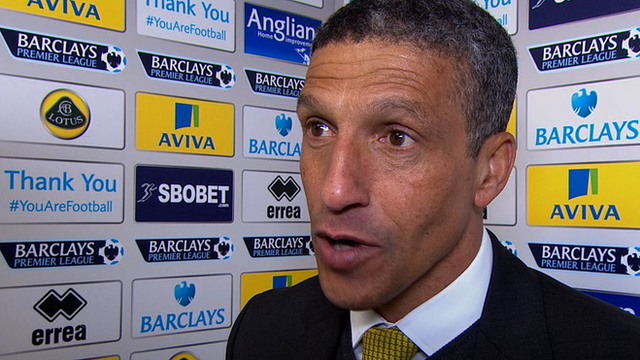 Norwich were excellent - Hughton