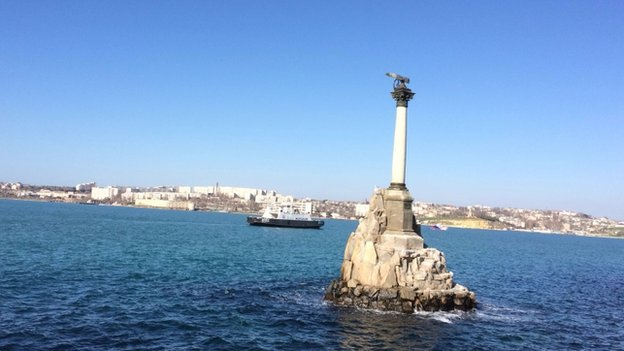 A view of the Bay of Sevastopol
