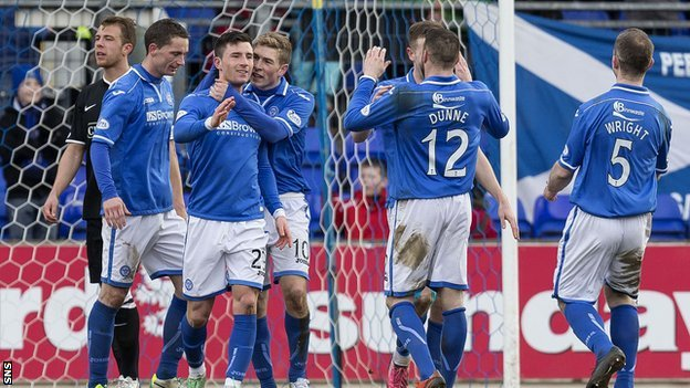 St Johnstone celebrate