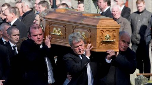 Funeral cortege of Declan Small