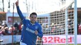 Nicky Clark celebrates Rangers' winner as they defeat Brechin City 2-1