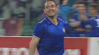 Salvatore Schillaci scores for Italy against Austria