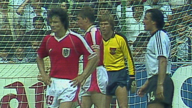 West Germany face Austria in the 1982 World Cup