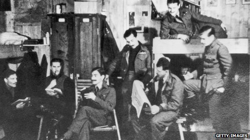 Captured RAF airmen at Stalag Luft III in 1944