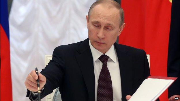 Vladimir Putin, 21 March