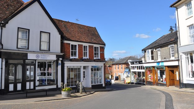 St Elizabeth Hospice and Sue Ryder shops in Framlingham