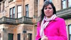 Claudia Hammond outside  Craiglockhart hospital
